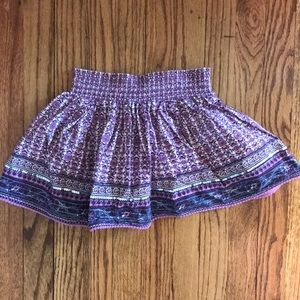 New The Children's Place 6x/7 Purple Floral Skirt